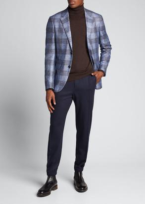 Ermenegildo Zegna Men's Plaid Silk-Cashmere Sport Jacket