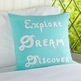 PBteen Explore, Dream, Discover Organic Pillow Cover