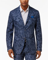 Tallia Men's Big & Tall Slim-Fit Indigo Blue Paisley Sport Coat