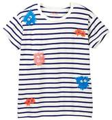 J.Crew J. Crew Stripe Monster Tee (Toddler & Big Girls)
