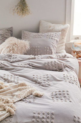 Urban Outfitters Grid Tufted Duvet Cover