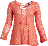 Paparazzi Coral Lace Pullover Tunic - Plus