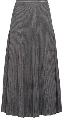 Prada Metallic Midi Knitted Skirt