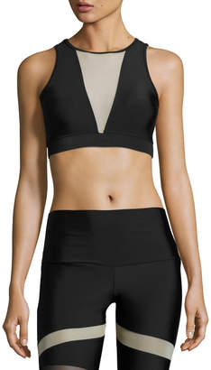 Onzie Briana Mesh-Insert Sports Bra, Black/Nude