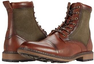 Steve Madden Bunsin Lace-Up Boot (Cognac) Men's Shoes