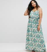 Uttam Boutique Plus Flower Print Maxi Dress