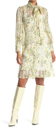 Burberry Giulia Tie Neck Dress