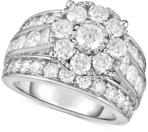 TruMiracle Diamond Flower Cluster Engagement Ring (4 ct. t.w.) in 14k White Gold