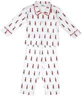 Pixie Dixie Guard Traditional Boy's Pyjamas White/Red 5-6 years