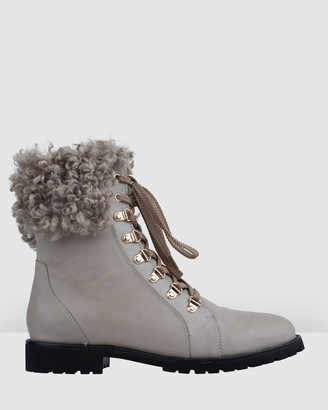 Bared Footwear - Women's Grey Boots - Dipper Flat Boots - Women's - Size One Size, 35 at The Iconic
