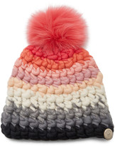 Mischa Lampert Striped Multi-Color Wool Beanie