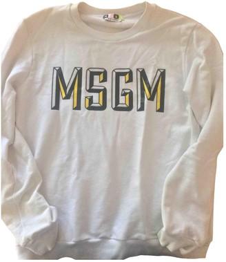 MSGM White Cotton Knitwear & Sweatshirts