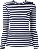 Natasha Zinko lace insert striped top - women - Polyamide/Spandex/Elastane/Viscose - 38