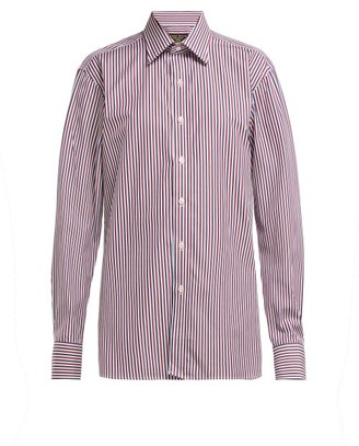 Emma Willis Striped Cotton Shirt - Red Navy
