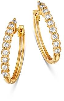Bloomingdale's Diamond Milgrain Oval Hoop Earrings in 14K Yellow Gold, 0.50 ct. t.w. - 100% Exclusive
