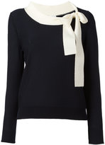 Sonia Rykiel long sleeve neck-tie sweater - women - Virgin Wool - S