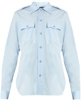 Balenciaga Flapped-pocket cotton shirt
