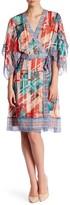 BCBGMAXAZRIA Krystie Woven City Silk Wrap Dress