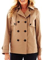 Liz Claiborne Cropped Trench Coat