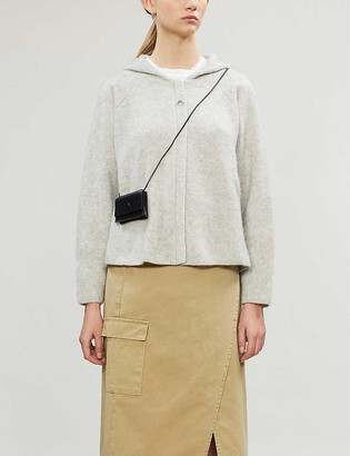 James Perse Cropped cashmere-silk blend hoody
