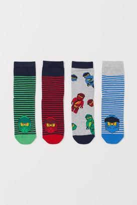 H&M 4-Pack Patterned Socks