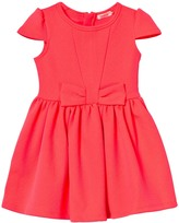 Billieblush Neon Pink Jacquard Bow Party Dress