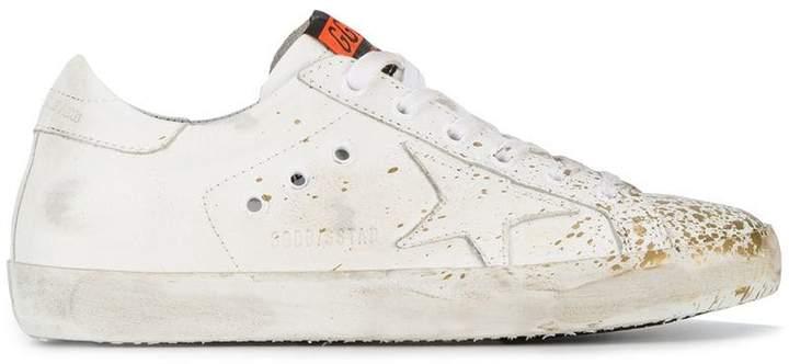Golden Goose paint splatter Superstar leather sneakers