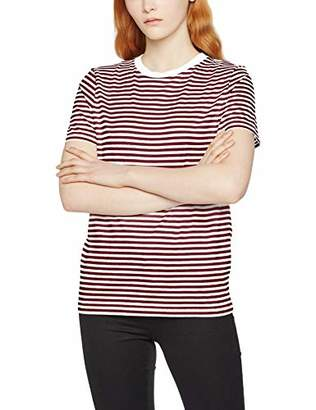 Selected Women's Sfmy Perfect Ss Tee-Box Cut-STRI Color T-Shirt,8 (Size: X-Small)