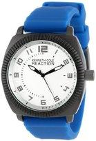 Kenneth Cole Reaction Unisex RK1275 Street Sport Round White Dial Arabic Numerals Blue Silicone Strap Watch