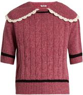 Miu Miu Cable-knit wool sweater