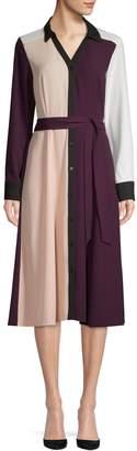 Calvin Klein Long-Sleeve Button Front Shirtdress