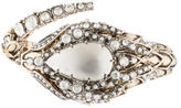 Roberto Cavalli Embellished Snake Hinge Bangle