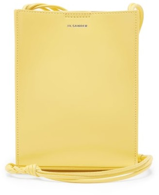 Jil Sander Tangle Small Braided-strap Leather Cross-body Bag - Yellow