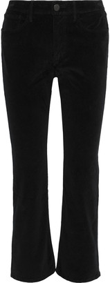 3x1 Cotton-blend Velvet Kick-flare Pants