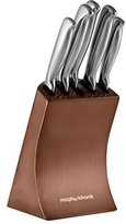 Morphy Richards Accents Knife Block, 5 Piece - Copper