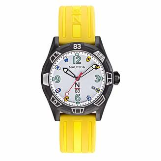Nautica N83 Ladies' NAPPOF904 Polignano Yellow/Black Silicone Strap Watch