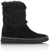 Sartore Women's Fur-Trimmed Ankle Boots-Black