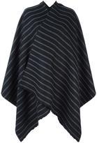 Barena striped print cape