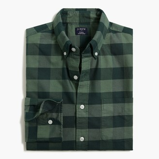 J.Crew Buffalo-check regular flex oxford shirt