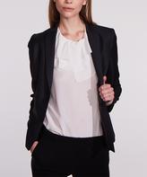 Tuxe Ivory Ruffle Mentor Silk Bodysuit