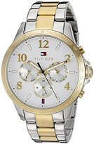 Tommy Hilfiger Women's 1781644 Dani Analog Display Japanese Quartz Two Tone Watch