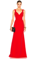 Victoria Beckham Double Crepe Camisole Floor Length Dress