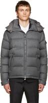 Moncler Grey Down Mongenevre Jacket