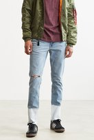 BDG X Urban Renewal Dipped Hem Painted Skinny Jean