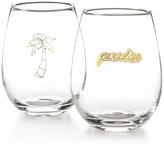 Celebrate Shop Celebrate Shop Paradise 2-Pc. Stemless Wine Glass Set