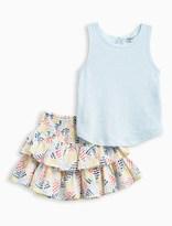 Splendid Little Girl Tank and Print Skirt Set