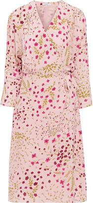 Joie Acantha B Floral-print Crepe De Chine Wrap Dress