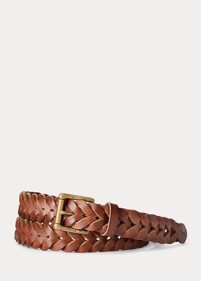 Ralph Lauren Braided Vachetta Leather Belt