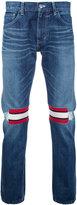 Facetasm striped knee jeans - unisex - Cotton - 5