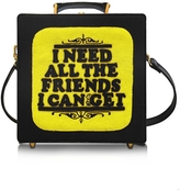 Olympia Le-Tan 7 Inch I Need All The Friends I Can Get Cotton Handbag